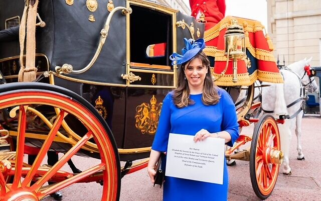 Tzipi Hotovely at Buckingham Palace while presenting her credentials to the Queen  (Tammy Kazhdan- MART Photography)