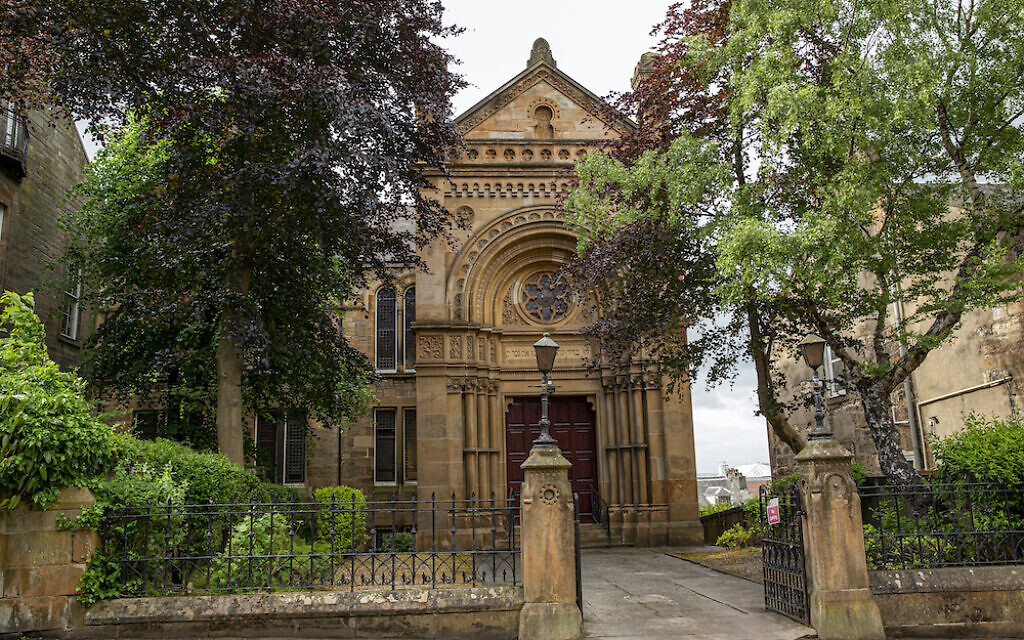 Exterior of Garnethill Synagogue on Hill Street. Photograph by Yvonne Livingstone.
