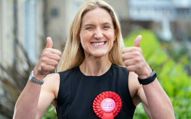 Labour's Kim Leadbeater after winning the Batley and Spen by-election.