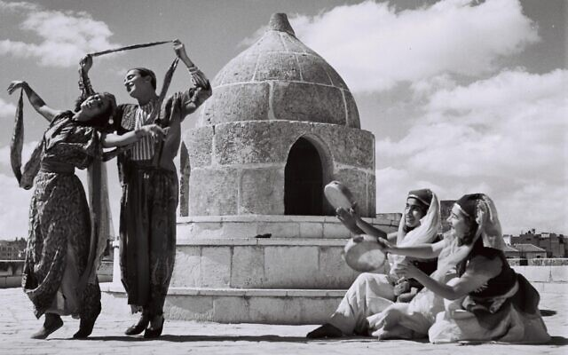 A Bucharian dance performed by members of the Rina Nikova ballet in Jerusalem    (Wikipedia/ National Photo Collection/Zoltan Kluger)
