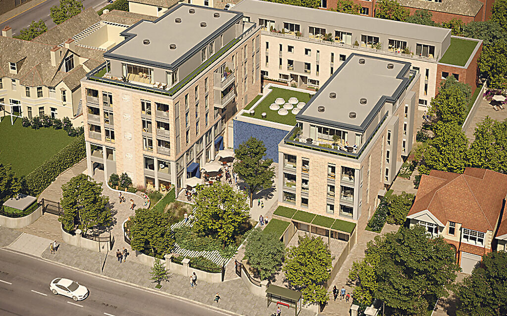 Artist's impression of the BNJC development on New Church Road, Hove