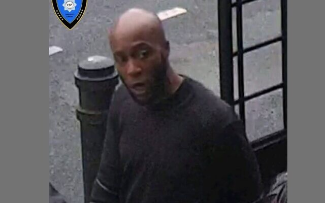 CCTV footage shows the suspect in the incident