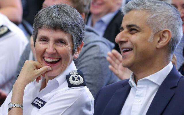 Met Police Commissioner, Cressida Dick and The Mayor of London, Sadiq Khan