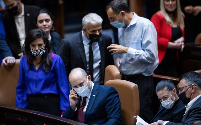 Coalition party leaders worked late into the night to try secure a compromise in the Knesset