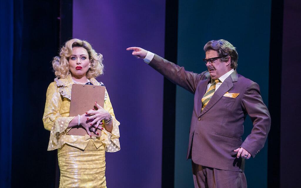 Rita Simons with Dermot Canavan in Hairspray. Credit: Tristram Kenton