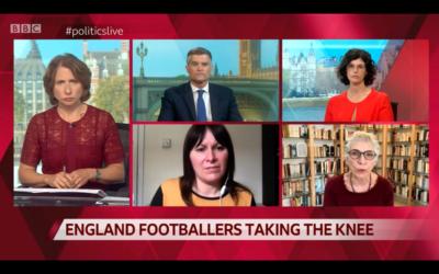 Melanie Phillips speaking on BBC Politics Live debate about taking the knee