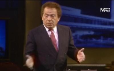 Screenshot of a Jackie Mason performance