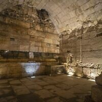 It is believed to have been a reception room for dignitaries (Photo: Israel Antiquities Authority)
