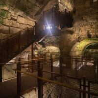 The new visitors' route in the Western Wall Tunnels (Photo: Israel Antiquities Authority)