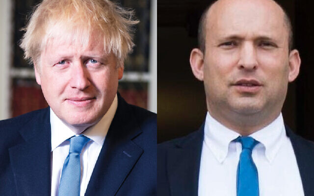 Boris Johnson and Naftali Bennett
