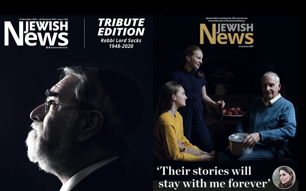 Tribute issue for Rabbi Lord Sacks, and the edition featuring the Duchess of Cambridge's portraits of survivors