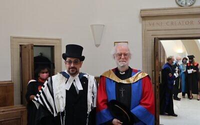 Rabbi Alex Goldberg and former Archbishop of Canterbury, Rowan Williams