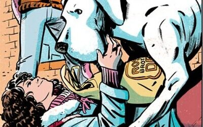 Whistle: A New Gotham City Hero, which is released in September, features teenage social activist Willow Zimmerman and her telepathic dog Leibowitz