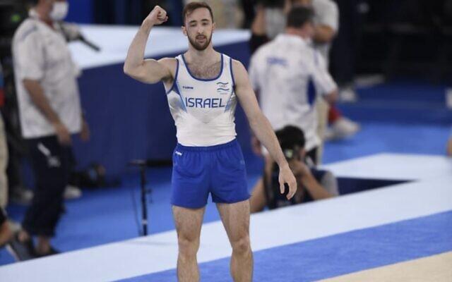 Artem Dolgopyat at Tokyo 2020 yesterday after winning gold