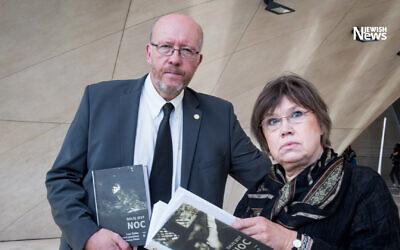 Jan Grabowski and Barbara Engelking (Photo: Claims Conference)
