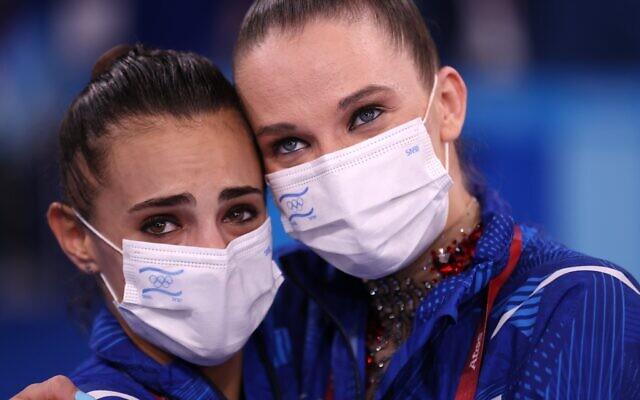 Linoy Ashram (left) (Credit: Olympics on Twitter)