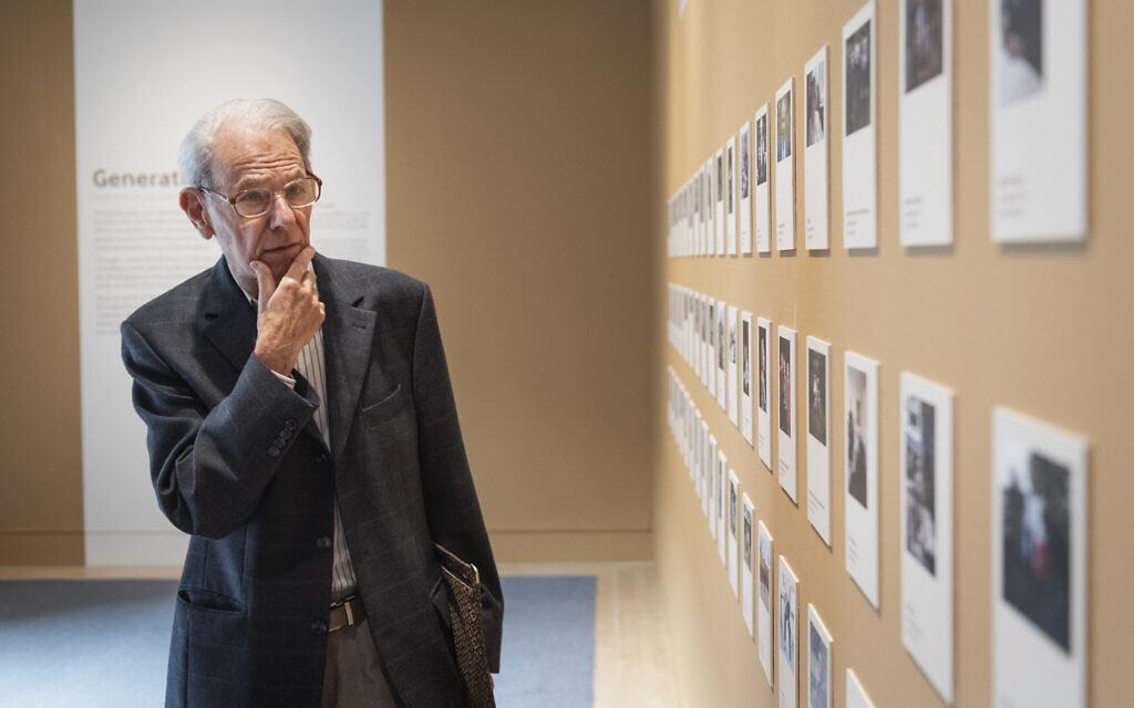 John Hajdu MBE, whose portrait features in the exhibition, explores Generations: Portraits of Holocaust Survivors. © IWM