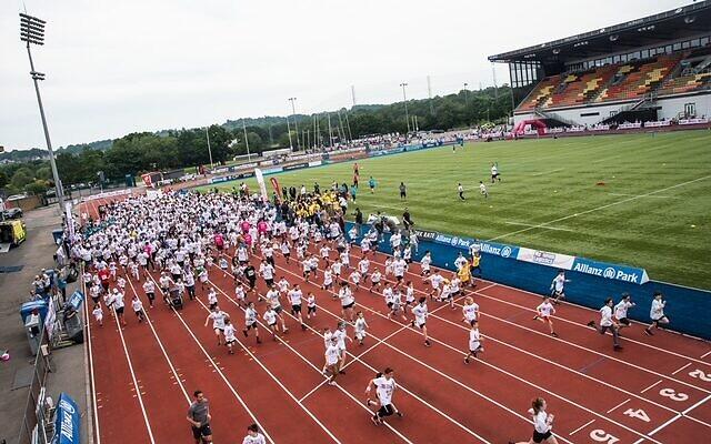 Maccabi GB's Fun Run 2019, which the Interfaith Fun Run is based on (Blake Ezra )