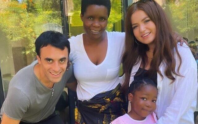 Matt Keston and Natasha Gee-Firsht with Victoria and her mother Anna