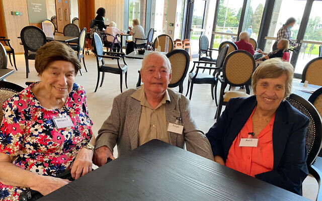 Miriam, Ralph and Avril at The Ronson Family Community Centre at Sandringham