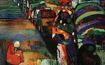 Wassily Kandinsky, Painting with Houses ( Courtesy/ Stedelijk Museum, Amsterdam via Times of Israel)