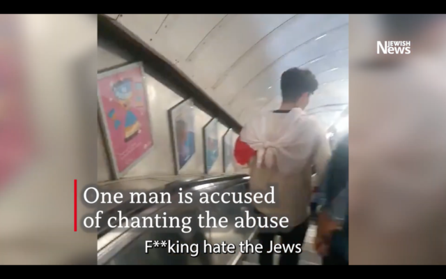 Clip from JN video showing antisemitic chanting on the underground
