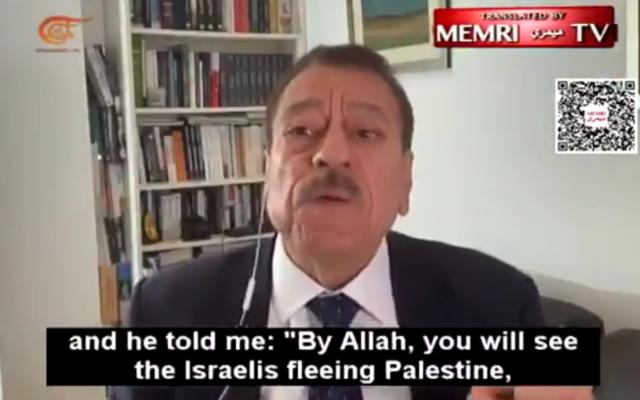 Abdel Bari Atwan, speaking on Lebanese TV
