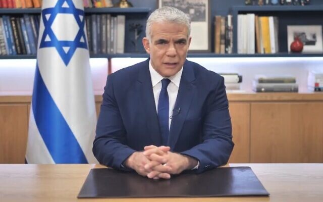 Israeli foreign minister Yair Lapid released a statement condemning the new Polish law on Sunday