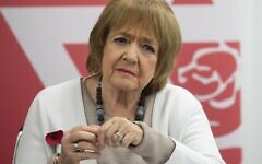 2D8DAF0 Dame Margaret Hodge, Parliamentary Chair of the Jewish Labour Movement, during a press conference by the JLM at the offices of Mishcon de Reya in London, following the publication of damming anti-Semitism report by the Equality and Human Rights Commission (EHRC).