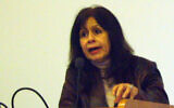 Dr. Ghada Karmi taken with her permission during a lecture in Manchester University, UK. Feb 2008 (Wikipedia/Authorوسام زقوت/CC BY-SA 3.0)