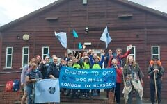 The group set off from London on 5 September and hope to reach Glasgow by 30 October