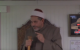 Imam Mohamed Tatai gives a sermon at the Grand Mosque in Toulouse, France, on December 15, 2017. (Screen capture: YouTube) via Times of Israel