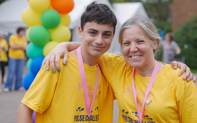 Jamie Summers walked 13 miles of the course and aimed to raise £1,300 for Shine For Shani, having chosen the charity for his barmitzvah fundraiser