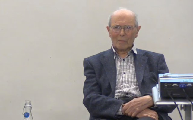 Screenshot from a video by JW3, featuring an interview with Mervyn Taylor