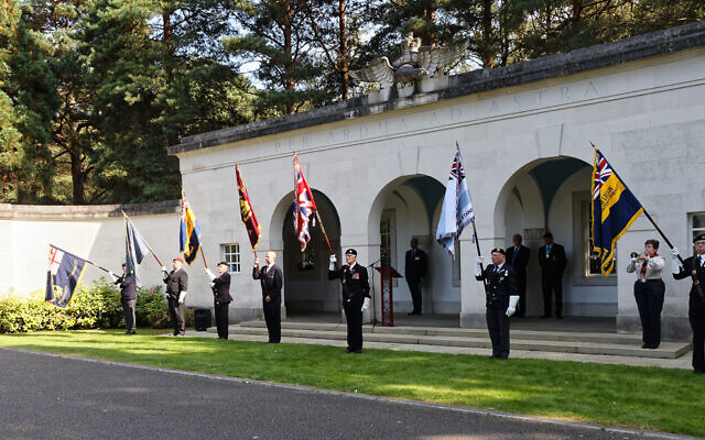 Standard Bearers including Brian Bloom representing AJEX with the new AJEX National Standard (Antony McCallum, Wyrdlight Photography.)