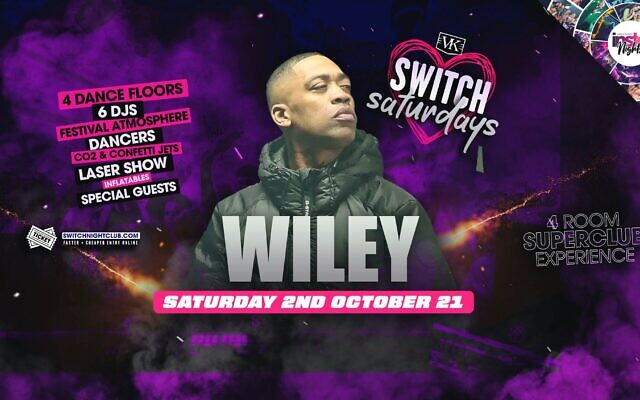 Poster promoting Wiley's performance