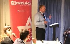 Gary Smith speaking at JLM's event on Sunday.