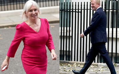 Newly appointed Culture Secretary Nadine Dorries leaves 10 Downing Street, as former Culture Secretary Oliver Dowden, who has been appointed Minister without Portfolio in the Cabinet Office leaves 10 Downing Street