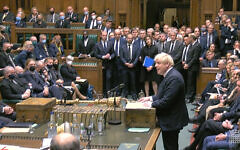 Prime Minister Boris Johnson speaks in the chamber of the House of Commons, Westminster, as MPs gather to pay tribute to Conservative MP Sir David Amess, who died on Friday after he was stabbed several times during a constituency surgery in Leigh-on-Sea, Essex.