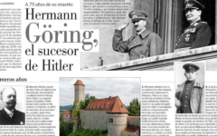 The Oct. 24, 2021 edition of Chile's El Mercurio newspaper featured an article on Hermann Göring. (Screenshot)