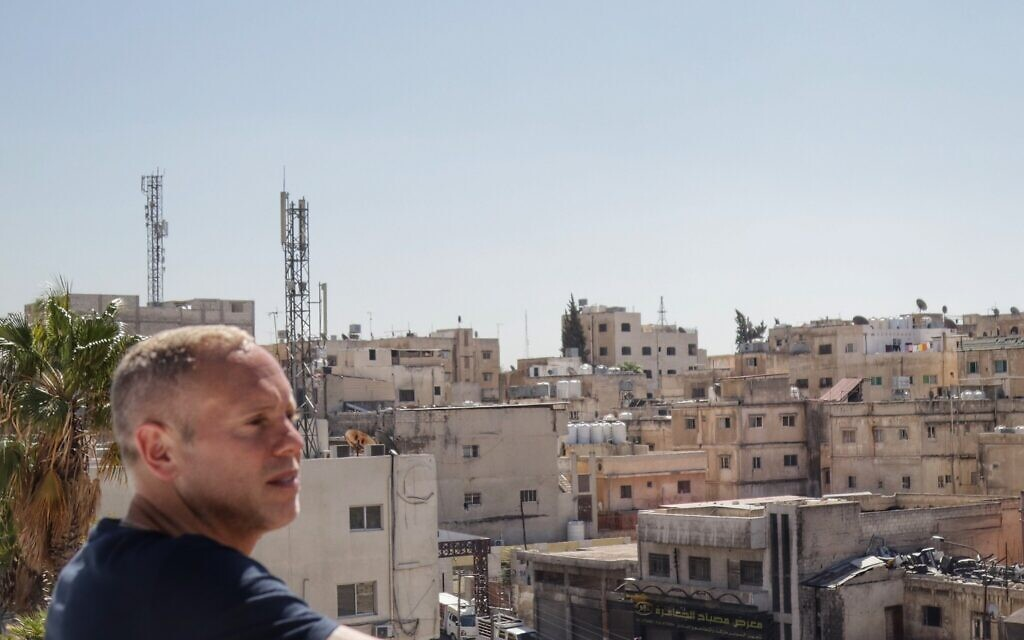 Robert Rinder looks out over Amman, Jordan during his trip to the country with MDA UK