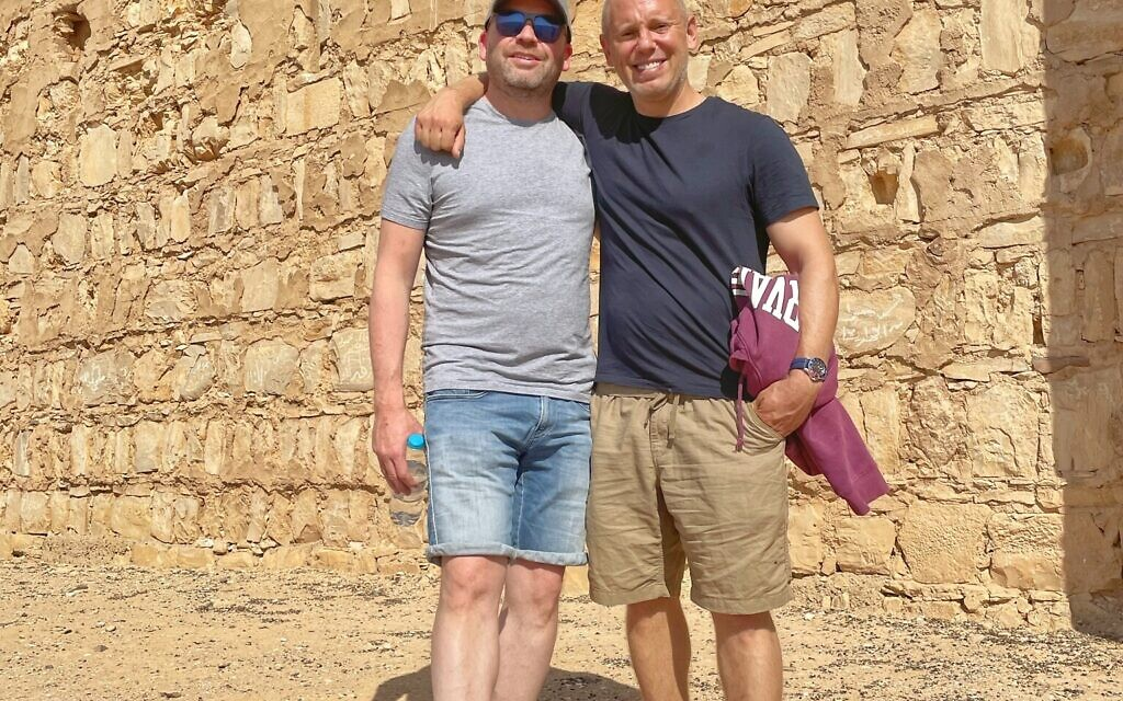 Robert Rinder with Daniel Burger, chief executive of Magen David Adom UK at Qasr Kharanah, one of the earliest examples of Islamic architecture in the region