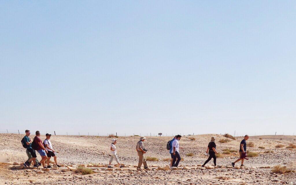 The Jordan 360 participants enjoy a trek through the desert