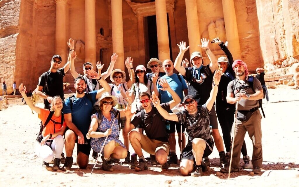 The group in front of Petra