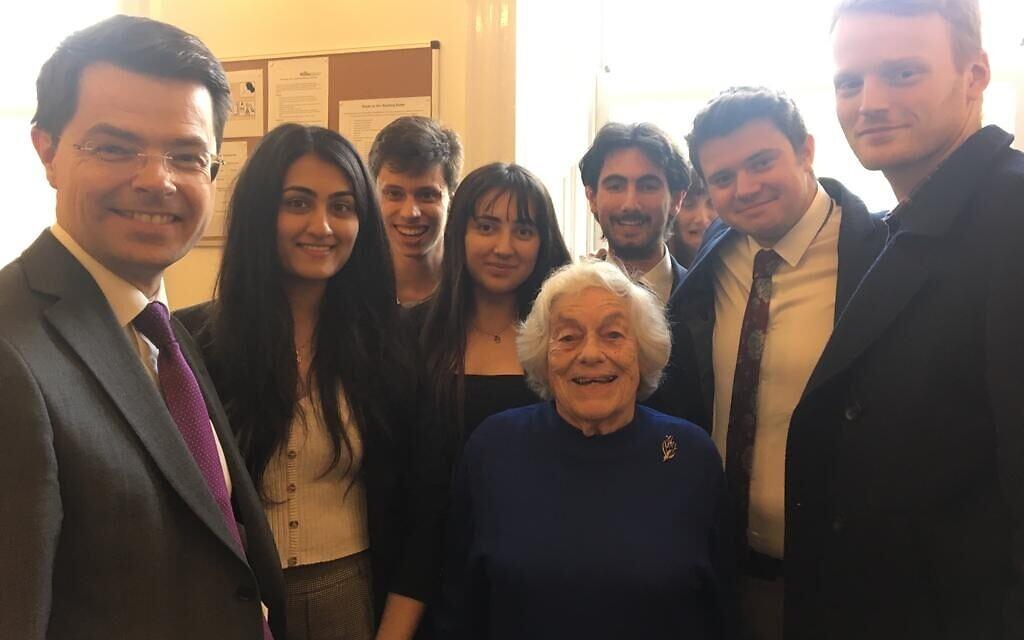 James Brokenshire with HET ambassadors and survivor Vera Schaufeld MBE