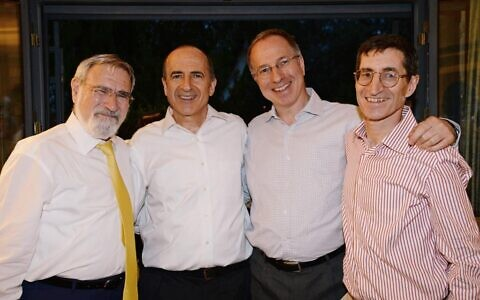 L to R: Jonathan, Alan, Eliot and Brian Sacks