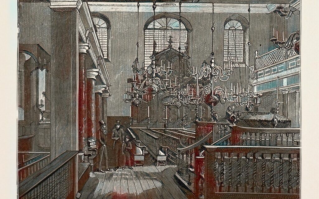 RANXP5 BEVIS MARKS SYNAGOGUE, 1889. Reimagined by Gibon. Classic art with a modern twist reimagined