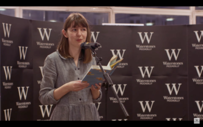 Screenshot from video by Waterstones of Sally Rooney launching her latest novel
