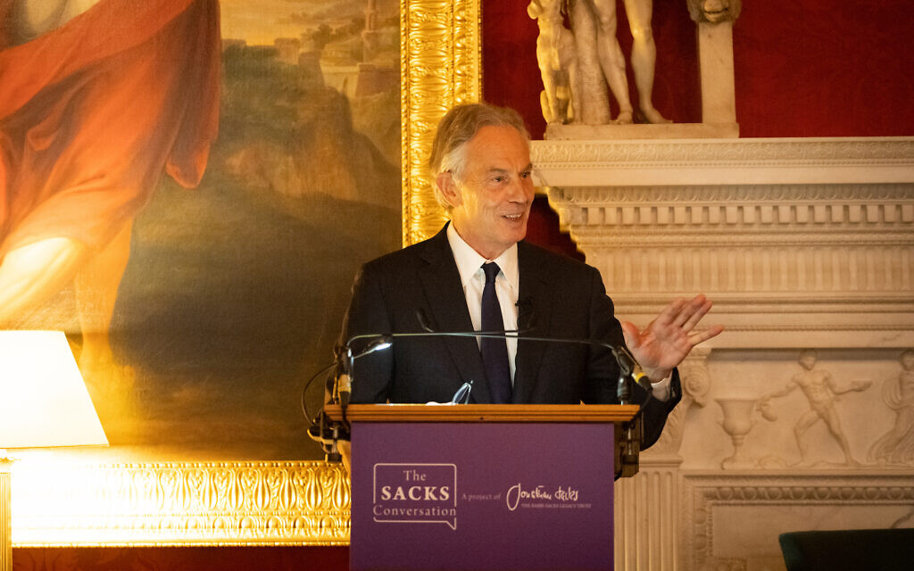 Tony Blair. at the Inaugural Sacks Conversation at Spencer House in London ((C) Blake Ezra Photography Ltd. 2021)