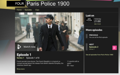 Screenshot of the BBC description's of Dreyfus as a 'notorious Jewish spy'